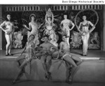Women in costume on the stage of the Creole Palace