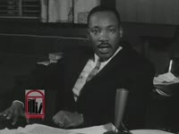 WSB-TV newsfilm clip of Dr. Martin Luther King, Jr. speaking about the philosophy of nonviolence and recent violent demonstrations in Virginia, 1963