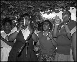 [Women of the Voices of Zion Community Choir Singing and Clapping] 18th Annual Texas Folklife Festival