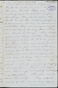 Letter, 1848?