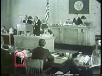 WSB-TV newsfilm clip of Atlanta Board of Aldermen holding a public hearing on segregation, Atlanta, Georgia, 1964
