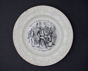Plate with Uncle Tom's Cabin illustration
