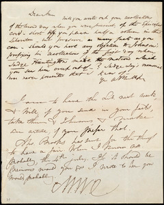 Letter from Wendell Phillips, [Boston?, Mass.], to Maria Weston Chapman and Anne Warren Weston