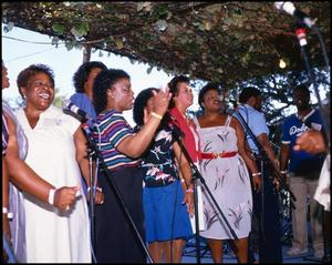 [Duckens Family Singers Performing] 14th Annual Texas Folklife Festival