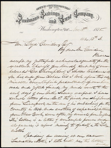 Letter from Robert Purvis, Washington, D.C., to William Lloyd Garrison, Nov[ember] 18th 1878
