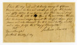 Thumbnail for Slave deed from Joshua Reams, to William Harrison, Jr., Williamson County, Tennessee, 1841 February 02
