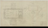 Hamline Playgrounds, Stone Shelter Building, Plan of Stone Pilaster and Plot Plan