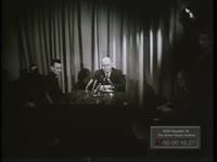 Series of WSB-TV newsfilm clips of Georgia Senator Richard Russell speaking about the civil rights debate in the Senate, 1964, March 2