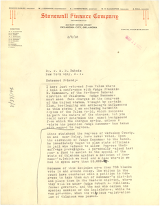 Letter from Roscoe Dungee to W. E. B. Du Bois