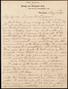 Letter from William Still, Philadelphia, [Pa.], to William Lloyd Garrison, May 16th, 1870