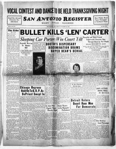 San Antonio Register (San Antonio, Tex.), Vol. 2, No. 33, Ed. 1 Friday, November 18, 1932 San Antonio Register