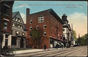 Elizabeth Street, showing Y.M.C.A., Hotel Clark and Opera House, Derby, Conn