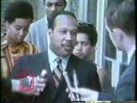 WSB-TV newsfilm clip of a protest against segregation at a YMCA while an official tries to explain policy, Atlanta, Georgia, 1967 June 15