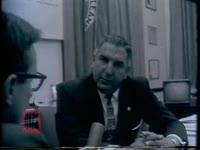 WSB-TV newsfilm clip of interviews with Police Chief Joseph Giarrusso, the Gabrielle family, and Mayor deLesseps Morrison as well as images of the community of New Orleans, Louisiana, 1960 November