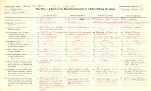 Student family histories: Sherard, Margaret Adkins (Reynolds, Steward)