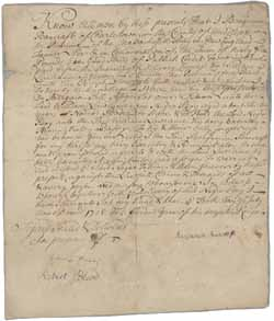 Deed from Benjamin Bancroft to William Lawrence for Bodee (a slave), 10 July 1728
