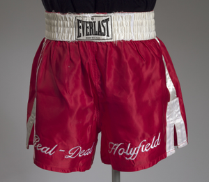 Boxing trunks worn by Evander Holyfield