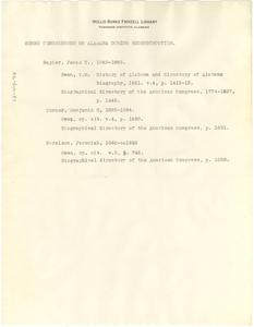 Negro Congressmen on Alabama during Reconstruction