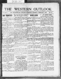 The Western Outlook (San Francisco and Oakland, Calif.), Vol. 34, No. 18, Ed. 1 Saturday, February 4, 1928 The Western Outlook