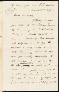 Letter from Frederick William Chesson, London, [England], to Samuel May, Jr., March 12th 1870