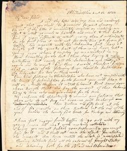 Letter from Arnold Buffum, Philadelphia, [Pennsylvania], to William Lloyd Garrison, 1834 [April] 12