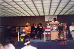 Librarian Billie Frierson at Podium during African American Living Legends Program