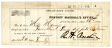 Military Pass for Mrs. Hannah M. Morey