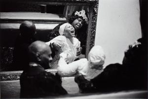 Baptism, seen in mirror, Israelite S.C., Lydia Gilford presiding