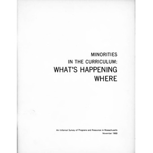 Minorities in the curriculum: What's happening where