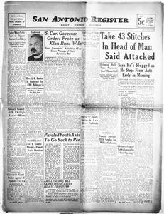 San Antonio Register (San Antonio, Tex.), Vol. 9, No. 50, Ed. 1 Friday, January 12, 1940 San Antonio Register