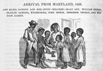 Arrival from Maryland, 1859; Ann Maria Jackson and her seven children