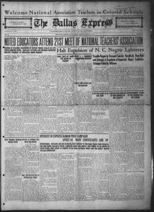The Dallas Express (Dallas, Tex.), Vol. 31, No. 36, Ed. 1 Saturday, August 2, 1924 The Dallas Express