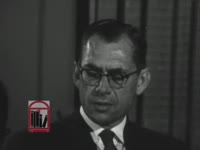 WSB-TV newsfilm clip of response to comments made the day before by President John F. Kennedy about the relationship between city officials and civil rights workers by Asa D. Kelley, mayor of Albany, Georgia, 1962 August 2