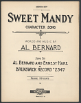 """Sweet Mandy"" Sheet Music"