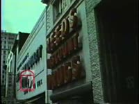 WSB-TV newsfilm clip of Hosea Williams accusing the Reed Drug Company of unfair labor practices and racism as well as picketing by the Poor Peoples's Union, Atlanta, Georgia, 1973 March 28