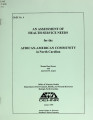 Assessment of health service needs for the African-American community in North Carolina
