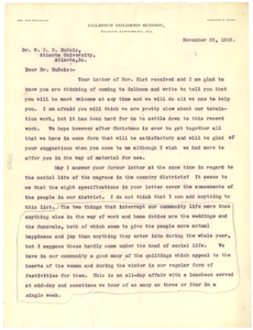 Letter from Charlotte R. Thorn to W. E. B. Du Bois