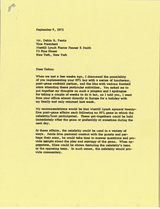 Letter from Mark H. McCormack to Dakin B. Ferris