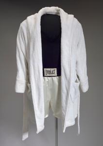 Robe and trunks worn by Denzel Washington as Rubin Carter in The Hurricane