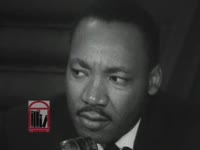 WSB-TV newsfilm clip of Dr. Martin Luther King, Jr. speaking to reporters following the court-ordered reinstatement of over one thousand students suspended from school for participating in civil rights demonstrations, Birmingham, Alabama, 1963 May 23