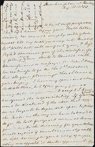 Letter from Mary Anne Estlin, [Bristol, England], to James Miller McKim, 1853 Aug[ust] 31