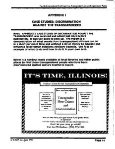 Appendix I: Case Studies: Discrimination Against the Transgendered