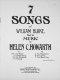 7 songs of William Blake / Songs of William Blake