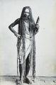 Sadhu with long hair, India, ca. 1920