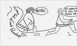 Cartoon from the Powelton Post, 1962