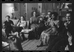 [William and Daisy Myers, the first African American residents of Levittown, Pa., socializing with their neighbors]